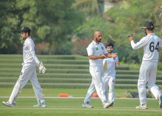 Pakistan spinner Sajid Khan said Saqlain Mushtaq told him to keep bowling the same line and length