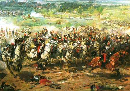 "French Cuirassiers 1870. ""Representation de la Guerre (1870)"", Jean-Francois Lecallion"