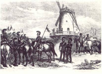 Napoleon viewing the Prussian position from the mill at Fleurus