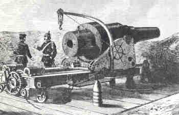 Prussian Krupp 150-mm gun at the siege of Paris