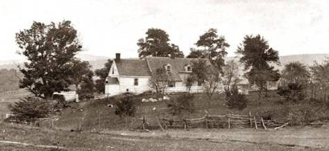 Roulette Farm, from a photograph taken in 1862. After the battle around 700 bodies were buried in the grounds of the Roulette Farm (Library of Congress)