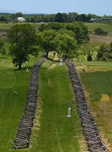 The Sunken Lane today (Antietam National Battlefield)