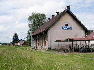 The railway station at Sadowa.