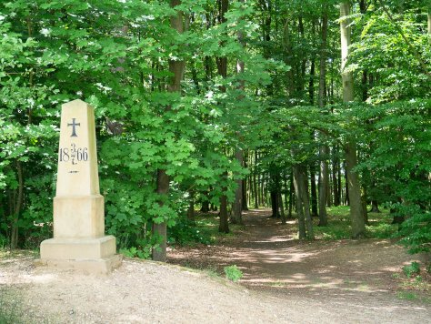 One of the many monuments to the fallen in the Sweipwald.
