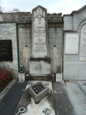 The now refurbished grave of Benedek and his wife in Gratz, Austria.