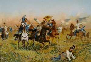 The cavalry action at Nachod.