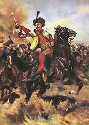 A Cossack Hetmann at the head of his men