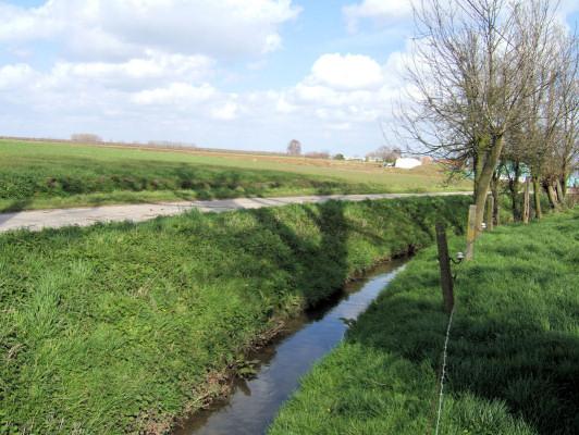 (D) Dippen brook - front line of the battle.