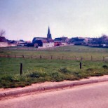"The view looking from the approach line of the French (Lefol's division, Vandamme's corps) as they attacked St Amand. The church itself is, ""a conserve sa physionomie de 181"", and according to everyone we spoke to it has remained the same ever since the battle."