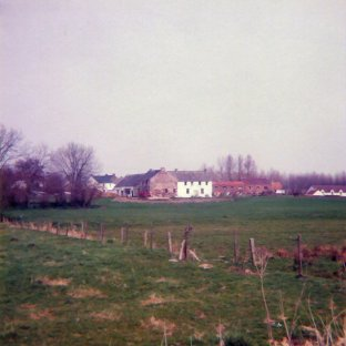 outskirts of the village of Tongrinnes, looking from the French side near the Ligny stream.