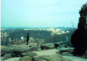 The Union Center from Little Round Top