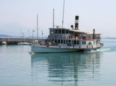 Paddle steamer on Lake Garda