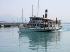 Paddle steamer on Lake Garda