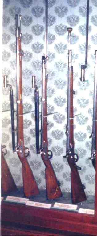 The Austrian Lorenz Rifled Musket (far left