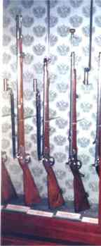 The Austrian Lorenz Rifled Musket (far left
