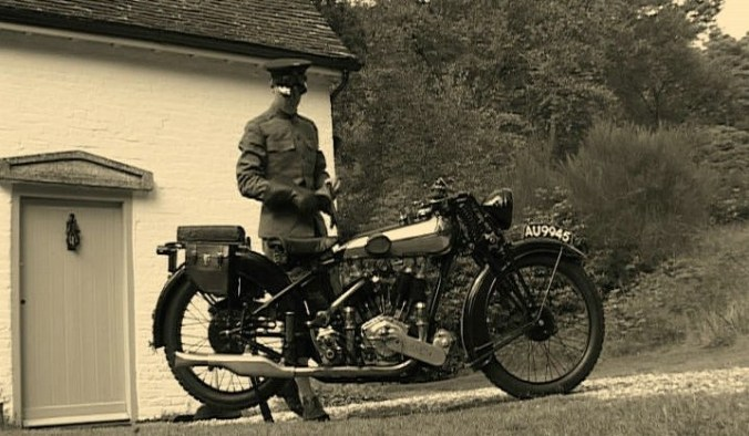 TE Lawrence with Motorcycle