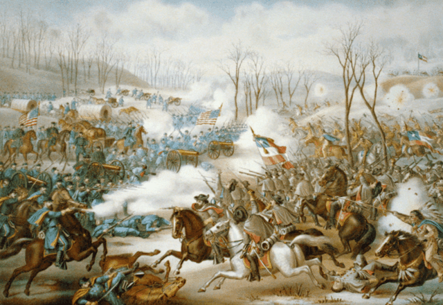 Battle of Pea Ridge, Arkansas by Kurz and Allison.