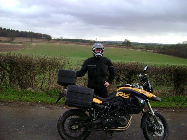 Battlefield Biker at Cheriton Battlefield