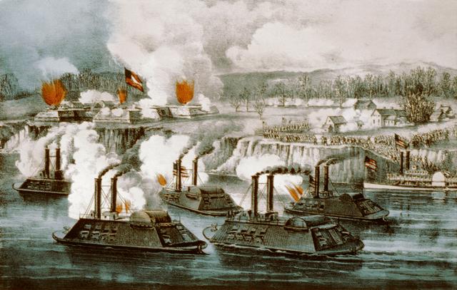 Battle of Arkansas Post & Fort Hindman 11 Jan 1863 - Currier & Ives