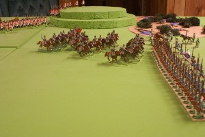 Hussars charge the Stollenian flank
