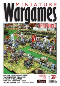 Miniature Wargames with Battlegames issue 364 front cover