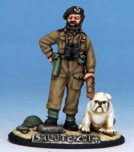 Commander Colin Douglas Maud, DSO, DSC, sculpted by Michael Perry and painted by Kevin Dallimore
