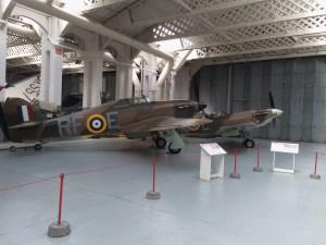 Hawker Hurricane and Supermarine Spitfire at Duxford