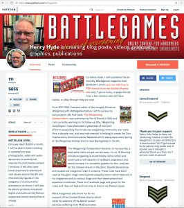 The Battlegames on Patreon page