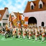 Regiment von Eintopf leaving town