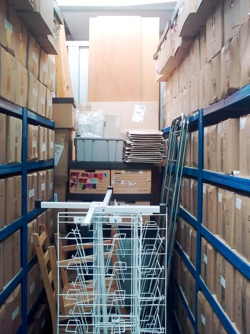 Thousands of copies of Battlegames in storage. each box held 50 copies. Almost all of these were pulped.