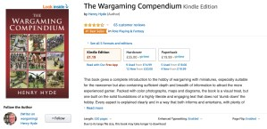 The Wargaming Compendium at No.1 on Amazon.co.uk