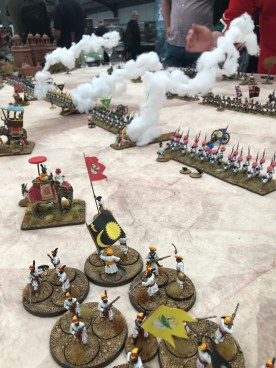 The Boondock Sayntes staged Assaye 1803 in 28mm. Gotta love those rocket trails!