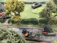 Normandy 1944 staged in 20mm by Steve Jones using his 'simple Squad Leader' rules.