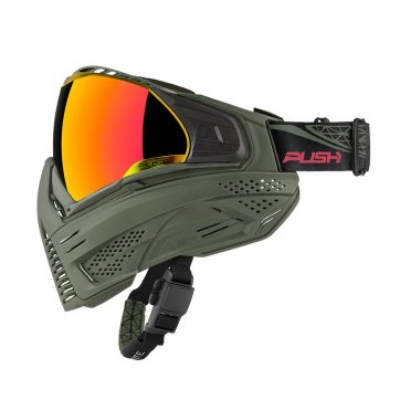 Push Paintball Olive Mask
