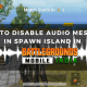 How To Disable Audio Message in Spawn Island in Battlegrounds Mobile India