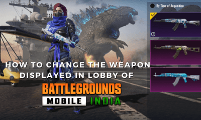 How to Change the Weapon Displayed in Lobby of Battlegrounds Mobile India