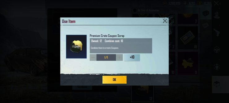 Ok - How to Get Premium Crate Coupons in BGMI