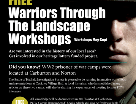 "As Part of Our HLF funded, ""Warriors Through The Landscape"" Project …"