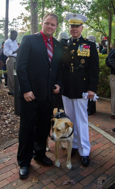 Brennan with Gen. Jim Amos, commandant of the Marine corps, at the Beirut 30th anniversary memorial ceremony in Jacksonville, N.C. Oct. 23. By John SudbrinkThe Daily News