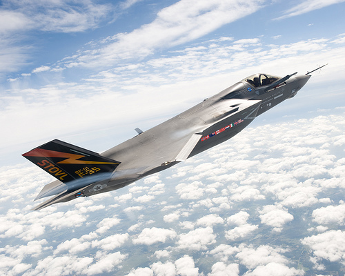 The F-35B Lightening II Joint Strike Fighter