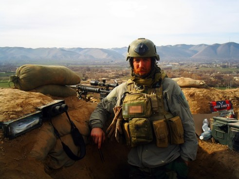 Staff Sgt. Michael Golembesky in Afghanistan with MARSOC.