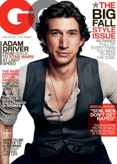 "Former Marine Adam Driver appears on the cover of September's ""GQ"" magazine. // Courtesy Photo"