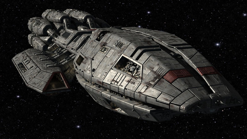 Image result for battlestar galactica ship