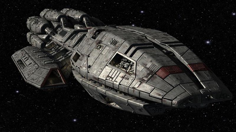 Image result for battlestar galactica ship