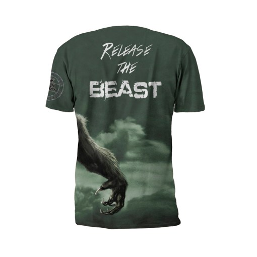 Alpha Beast Performance Tee Shirt by Battle Tek Athletics – Back View