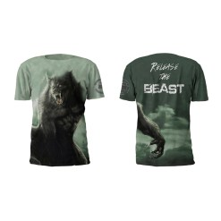 Alpha Beast Performance Tee Shirt by Battle Tek Athletics – Both Sides, Front and Back Views