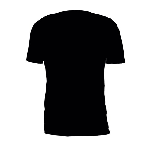 Black Property Of Battle Tek Lightweight 100% Micro Mesh Polyester Performance Tee Back View | Solid color on the back--Reverse Side Makes The Statement: Seek And Destroy