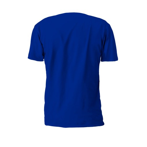 Blue Property Of Battle Tek Lightweight 100% Micro Mesh Polyester Performance Tee Back View | Solid color on the back--Reverse Side Makes The Statement: Seek And Destroy