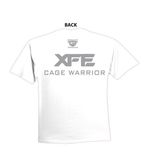 Battle Tek Athletics XFE Cage Warrior Performance Tee Back View