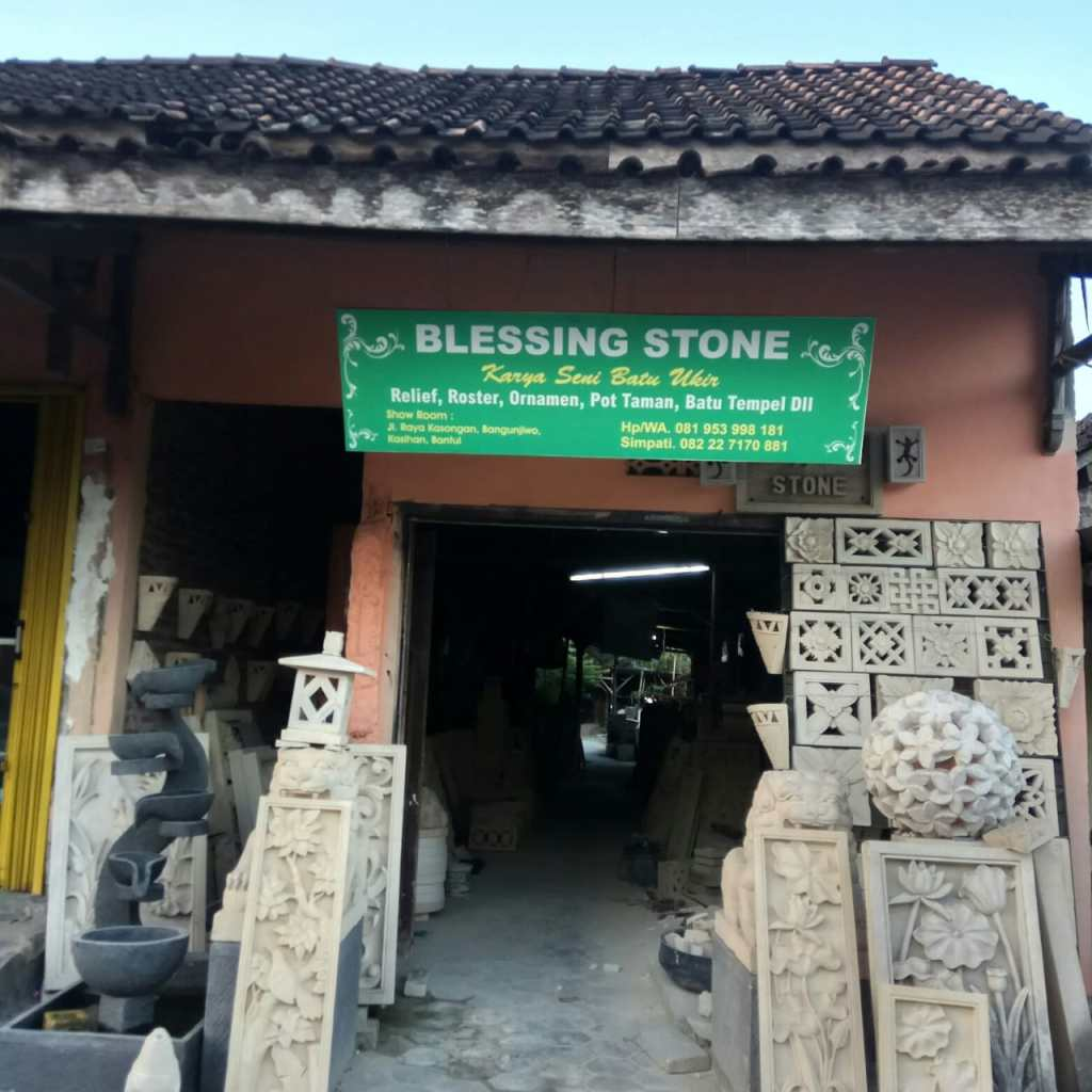 Blessing Stone Batu Ukir Paras Jogja